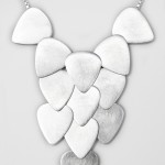 PANSSARI COLLECTION,  SILVER PLECTRUM CADCADE NECKLACE