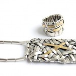 Patricia Gurgel Segrillo, Woven Series Silver and 18ct Gold Band and Necklace