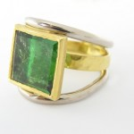 Moritz Schurmann, Floting Ring, Tourmaline, 18ct White & Yellow Gold