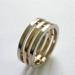 18ct White and Rose Gold Wedding Band