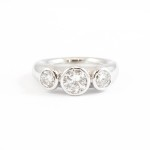 Restyled 18ct White Gold Ring using customers own Brilliant cut Diamonds