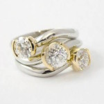 Restyled White and Yellow Gold Diamond Ring